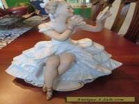 Vintage Wallendorf  Porcelain Seated Ballerina Germany