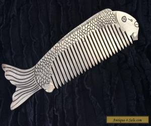 Vintage Art Deco Miao Silver Fish Hair Comb for Sale