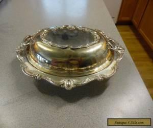 Vintage Ornate Entree Serving Dish for Sale