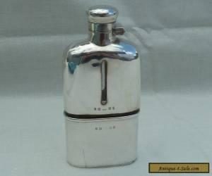 Antique Victorian Birmingham 1898 Hallmarked Silver Bound Glass Hip Flask  for Sale