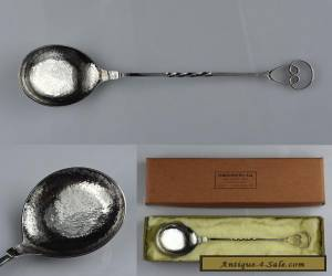 Large Sargisons Sterling Silver Serving Spoon with its Original Gift Box  for Sale