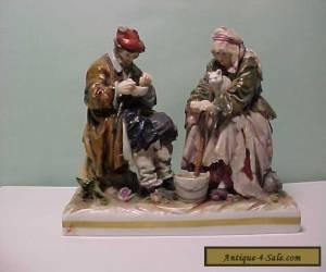 Antique 18th C Frankenthal fine Solid Porcelain Figurine - Peasants for Sale