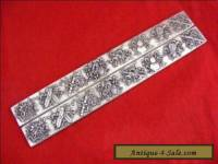 Old Chinese handwork Carved Eight weapon tibet Silver Bullion paperweight