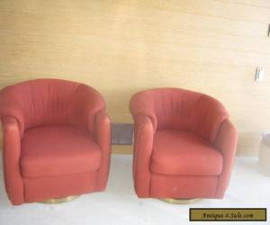 Vintage style mid century swivel chairs  for Sale