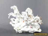 Exquisite  China hand carved porcelain horse  statue decorate C830