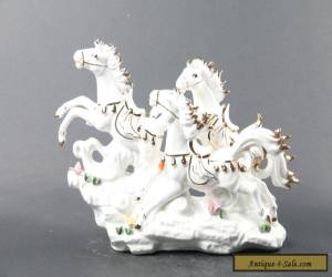 Exquisite  China hand carved porcelain horse  statue decorate C830 for Sale