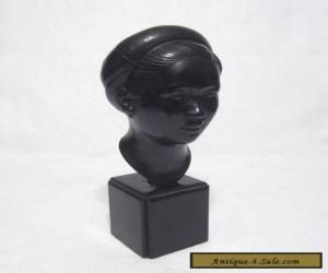 Vintage Studio Bronze Bust of a Laotian Girl by Nguyen Thanh Le C.1950's,60's #2 for Sale