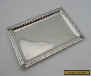 BEAUTIFUL VICTORIAN FRENCH SILVER TRAY - Late 19th Century - Lovely Antique  for Sale