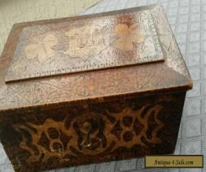 Antique Pokerwork box for Sale