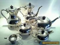 Vintage Silverplated Art Deco Era Minimalist Teaset