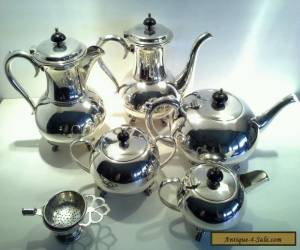 Vintage Silverplated Art Deco Era Minimalist Teaset for Sale