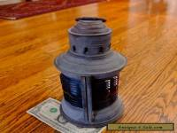"NICE Vintage National Ship Light Lantern Fancy Lens 9"" Tall Pat. 1913"
