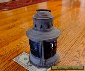 "NICE Vintage National Ship Light Lantern Fancy Lens 9"" Tall Pat. 1913 for Sale"
