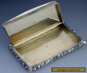 RARE FRENCH STERLING SILVER & GOLD SNUFF BOX 1819-1838 GEORGIAN ERA ANTIQUE for Sale