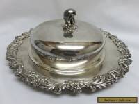 Reed & Barton Silverplate #2310 Burgundy Round Covered Butter Dish