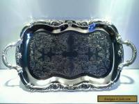 Vintage Large Silverplated Art Nouveau Style Serving Tray