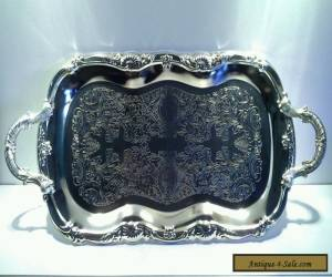 Vintage Large Silverplated Art Nouveau Style Serving Tray for Sale