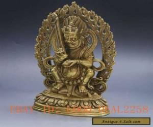 Vintage Tibet Brass Tibetan Buddhism Statue ---- Tibet Fortuna for Sale