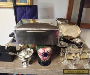 SILVER CIGARETTE BOX GOLD SMITHS & SILVERSMITHS for Sale