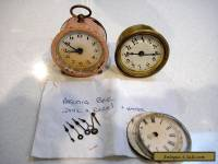 2 OLD CLOCKS AND CLOCK PARTS ......GERMANY....USA....ANSONIA