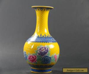 Exquisite Chinese handwork painting flower Porcelain Vase QIANLONG mark C1054 for Sale