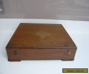 Vintage Art Deco Oak Cutlery Box for Restoration or Repair for Sale