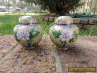 ANTIQUE or VINTAGE - CHINESE CLOISONNE  GINGER JAR 2pcs/set