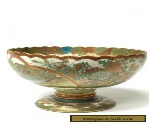 Japanese Satsuma Hand Painted Presentation Bowl for Sale