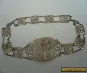 Silver Belt & Buckle, Sterling, Nurses, Antique, English, Hallmarked 1902  for Sale