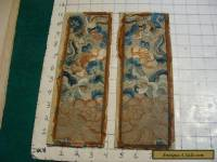 2 vintage similar SILK DRAGON AND FLOWERS Designes, very cool