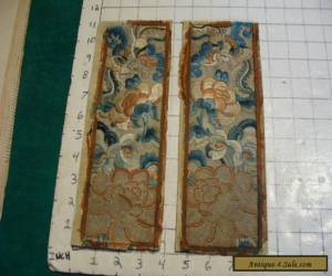 2 vintage similar SILK DRAGON AND FLOWERS Designes, very cool for Sale