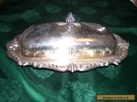Antique Vintage Sheridan Silverplated Kitchen Butter Dish