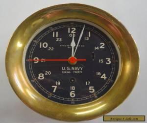 Vintage WW 2 U S Navy Chelsea Clock Co. Ships Clock Nautical for Sale