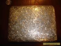 """Huge Massive Antique/Vintage Sterling Silver Cigarette Case """"Kuyeda"""".950 (182g)"""