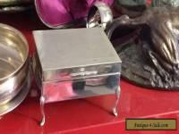 Sterling Silver Trinket -  Jewelry Box - Lovely Legs