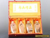 Exquisite Chinese Hand painting Glass beautiful woman Snuff Bottles 4 Pcs C370