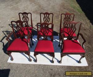 CHIPPENDALE STYLE SET OF 6 MATCHING MAHOGANY VINTAGE DINING CHAIRS for Sale