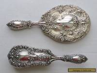 Vintage Gorham Sterling Silver Buttercup  Mirror & Brush Set