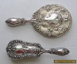 Vintage Gorham Sterling Silver Buttercup  Mirror & Brush Set for Sale