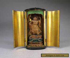 Fine ANTIQUE JAPANESE TRAVELLING BUDDHIST ALTAR SHRINE  for Sale