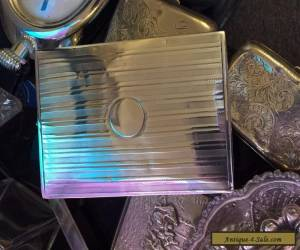 Solid Silver Art Deco Cigarette Box by Alexander Clark - Large for Sale