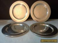 Set of 4 Oneida Silverplated Dessert Plates
