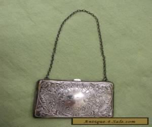 Antique Art Nouveau R Blakinton Sterling Silver Calling Card Case Purse No MONO for Sale