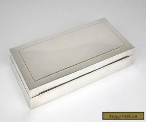 A solid silver table box 1960s Europe sandalwood interior cigarette Swiss for Sale
