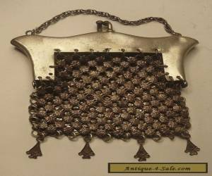 Antique Women's Chatelaine Mesh Coin Purse for Sale