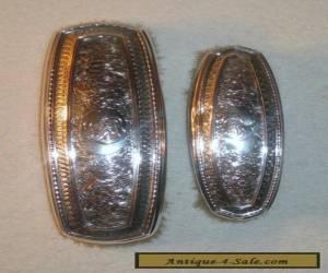Wm Kerr Sterling Silver VANITY DRESSER BRUSHES ANTIQUE Nouveau VICTORIAN Pair for Sale