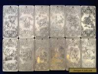Old Chinese Chinese Twelve 12 Zodiac tibet Silver Bullion thanka amulet