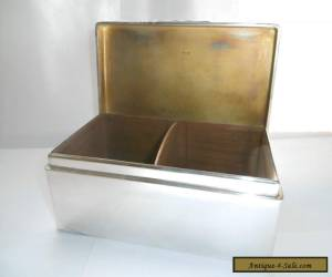 ANTIQUE ART DECO SOLID SILVER LARGE CIGAR CIGARETTE BOX SOLID SILVER LID / TOP for Sale