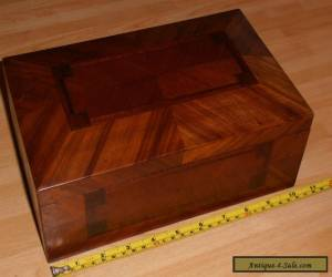 Beautiful Antique Wooden Parquetry Workbox with lift out tray for Sale