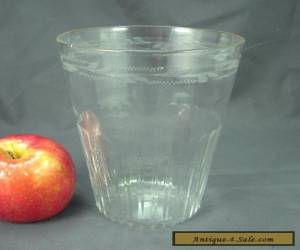 Antique Blown and Engraved Flip Glass c. early 19th cent for Sale